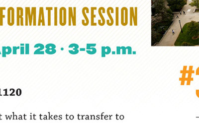 Preview of Admissions transfer fair poster